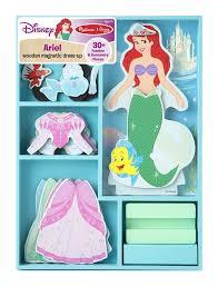 Ariel Clothes For Toddlers Amazon Com Melissa U0026 Doug Disney Ariel Magnetic Dress Up Wooden