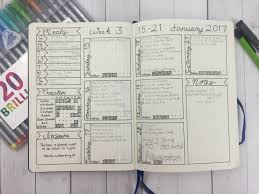 daily layout bullet journal bullet journaling january and february walk through with video