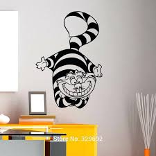 wall ideas alice in wonderland cheshire cat wall art sticker
