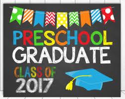 graduation sign preschool graduation etsy