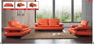 Custom Leather Sofas Orange Leather Sofa Unique Orange Leather Sofa Home Design Ideas
