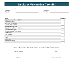 new employee orientation checklist template excel and word excel tmp