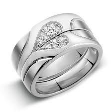 rings design 925 silver heart shaped diamond creative design engraved