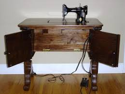 fold away sewing machine table rom woodworking featherweight sewing machine table handmade oak