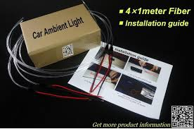 bmw f10 ambient lighting interior ambient light tuning atmosphere fiber optic band lights