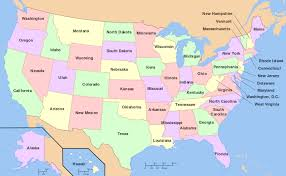 map of us united states map and satellite image us states and capitals map