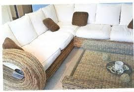 canape en osier canapé d angle table basse osier pas cher meubles aniche