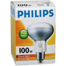 philips reflector r80 globe 100w es base each woolworths