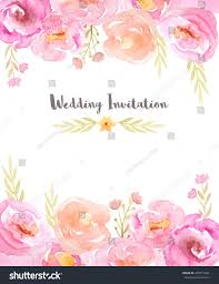 Wedding Invitation Card Maker Wedding Invitation Template Hand Painted Watercolor Stock