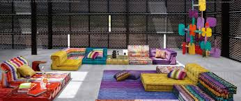 modular sofa in fabric mah jong song missoni home for roche bobois