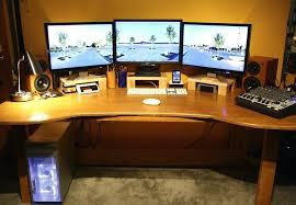 best corner desk for 3 monitors computer desk for 3 monitors three monitor inside plans 9