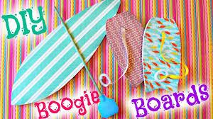 diy american doll surfboard u0026 boogie board youtube