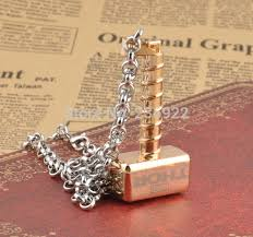 fashion jewelry hot thor hammer necklace thor the dark world movie