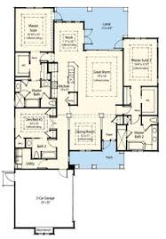 Two Master Bedroom Floor Plans Simple Open Ranch Floor Plans Style Villa Maria House