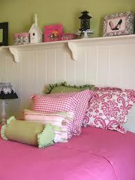 pink themed bedroom brown fur rug on hardwood flooring pink