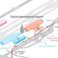 map dubai international airport dxb uae maps and directions at