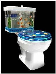 Fish Decor For Home Fish Tank Toilet Bowl Out Of The Ordinary Decor For Your Home