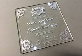 acrylic wedding invitations wedding invitations visual mechanics inc