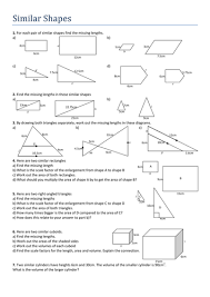 similar shapes worksheet by tristanjones teaching resources tes