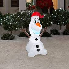 Home Depot Inflatable Christmas Decorations Disney Frozen 6 Foot Olaf Christmas Inflatables Best Christmas