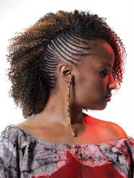 mohawk short black hairstyles with natural curly top