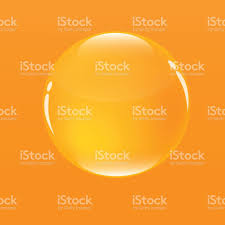 Light Orange Color water bubble in orange color background stock vector art 647971190
