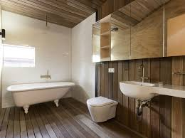 Bathroom Wood Paneling House Made Almost Entirely From Wood