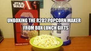 halloween popcorn gifts sasaki time r2d2 popcorn maker from box lunch gifts unboxing