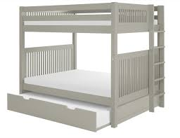 Camaflexi Full Over Full Bunk Bed With Trundle Mission Headboard - Full over full bunk bed with trundle