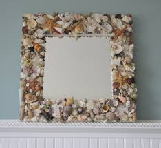 home decor shell mirrors for beach decor seashell mirror w sea glass