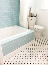 Tiling Around Bathtub 40 Blue Glass Bathroom Tile Ideas And Pictures