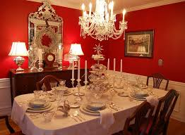 red dining room accessories home design