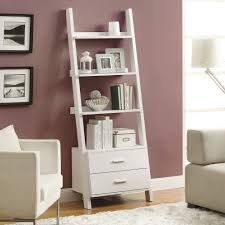 furniture chic plastic leaning bookcase in five tier ladder