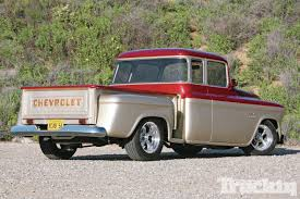 Classic Chevy Trucks 1956 - 1956 chevrolet pickup stretched chevy truckin magazine