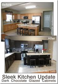 Before And After Chocolate Brown Kitchen Rustoleum Kit Copy - Kitchen cabinet kit