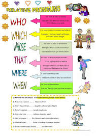 relative pronouns worksheet free worksheets library download and