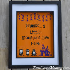 east coast mommy little monsters halloween sign free printable