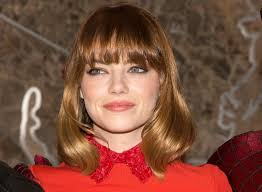 emma stone debuts short haircut in n y for u0027spider man 2 u0027 gigs