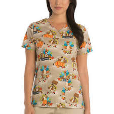 scrubstar thanksgiving scrub top scrubs xs s m l xl 2x 3x turkeys