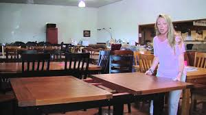 Butterfly Leaf Dining Room Table by Statewide Furniture Butterfly Leaf Table Demonstration Youtube