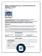 Quality Control Inspector Resume Sample by Rajesh Resume For Qa Qc Piping And Welding Inspector Welding