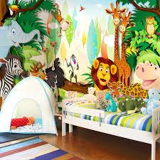monkey wallpaper for walls custom 3d wall mural wallpaper cartoon animals world for children