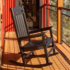 Recycled Plastic Rocking Chairs Polywood Reg Presidential Recycled Plastic Rocking Chair Walmart