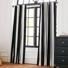 Black Curtains For Bedroom The Emily Meritt Circus Stripe Blackout Drape Pbteen