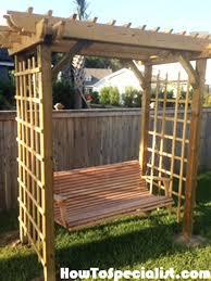arbor swing plans pergola with swing plans arbor swing cedar pergola swing bed stand