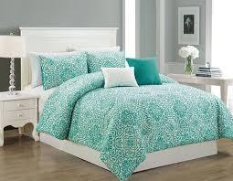 Jets Bedding Set with Hallmart Gigi 5pc Queen Size Teal Comforter Bedding Set Bedding