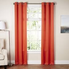 Orange White Curtains Orange White Curtains Drapes You Ll Wayfair