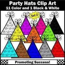 birthday hats birthday hats clipart set 2 kids birthday party hats clip sps