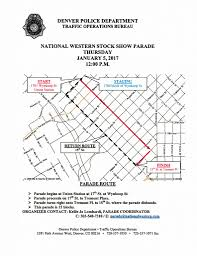 Denver Colorado Zip Code Map by Parade National Western Stock Show And Rodeo