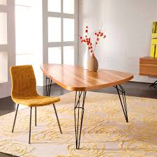 Dining Room Bench Plans by Triangle Dining Table With Bench Ania Steel Leg For Diy Dining